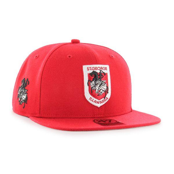 d3839f6e5 Details about 47 Brand NRL St George Dragons Adult Flat Brim Cap Hat CAPTAIN